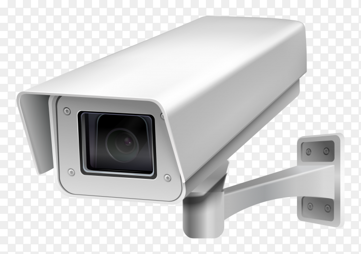 Security camera on transparent background PNG