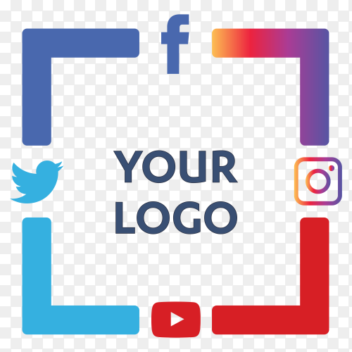 Set most popular social media icons twitter ,youtube ,facebook and instagram Clipart PNG