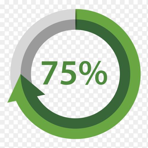 Seventen fife Percentage Upgrade on transparent background PNG