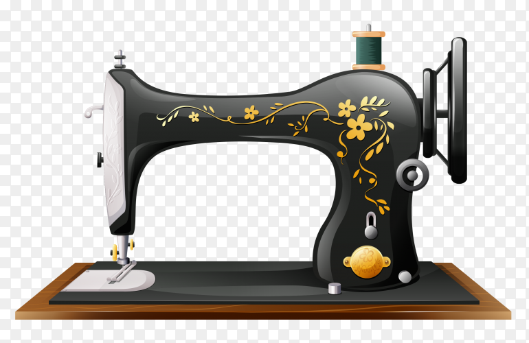Sewing machine on transparent background PNG