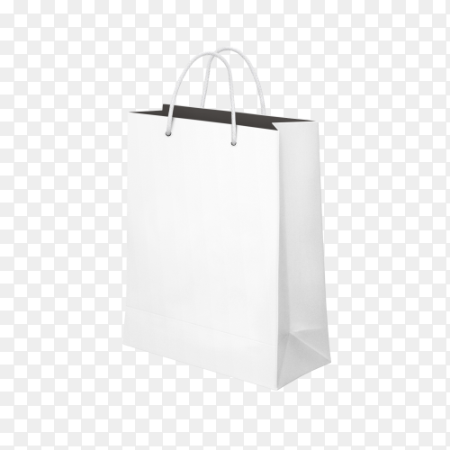 Shopping Bag white on transparent PNG