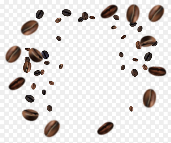 Simple wallpaper with coffee beans vector PNG