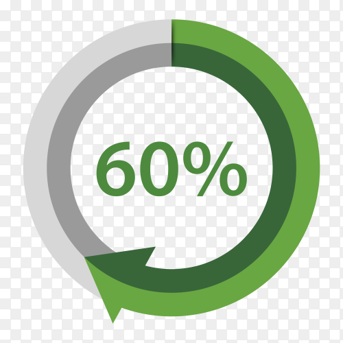 Sixty Percentage Upgrade on transparent background PNG