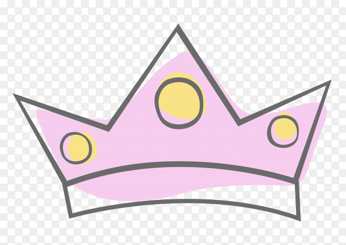 Sketchy crown icon clipart PNG