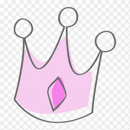 Sketchy crown on transparent PNG