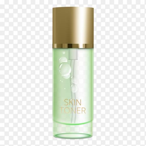 Skin toner on transparent PNG