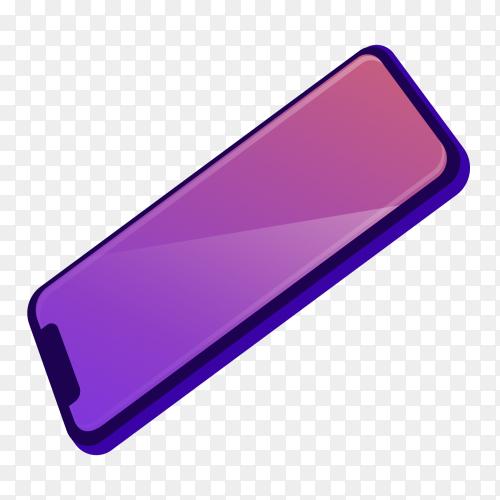 Smartfone device on transparent background PNG