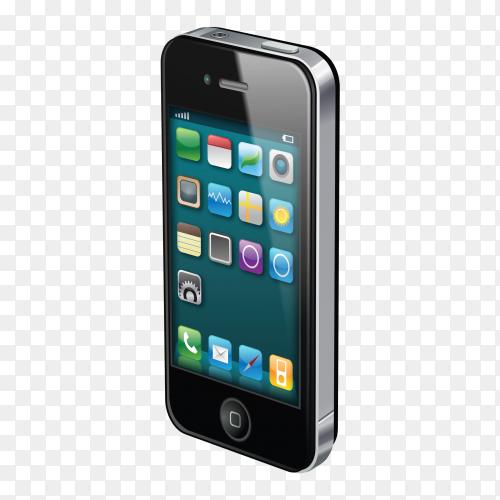 Smartphone mockup Premium vector PNG