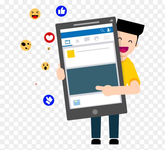Social media facebook like vector PNG