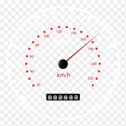 Speedometer icon on transparent background PNG