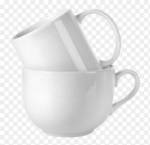 Stacked coffee cups on transparent PNG