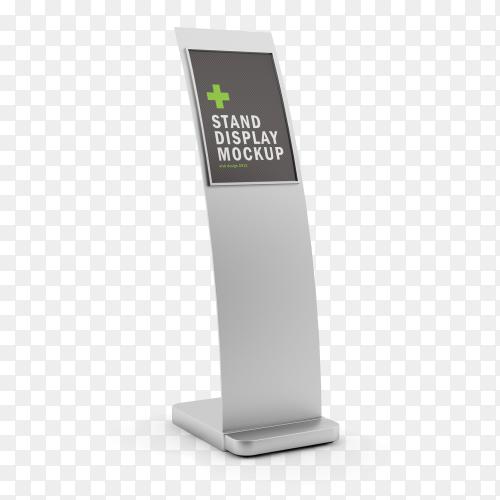 Stand display mockup on transparent background PNG