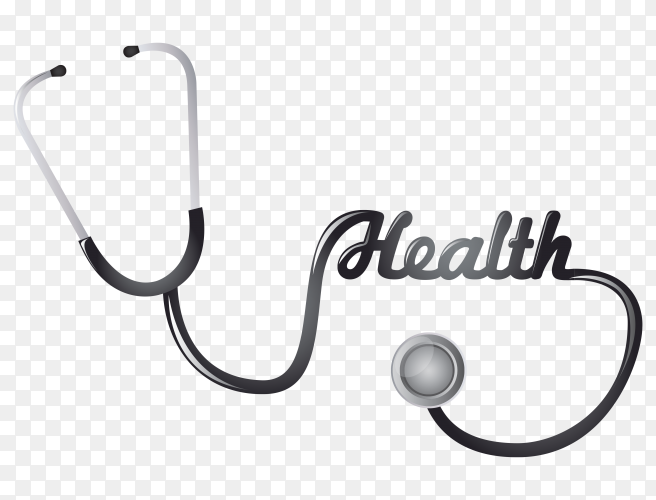 Stethoscope and medical equipmentn clipart PNG
