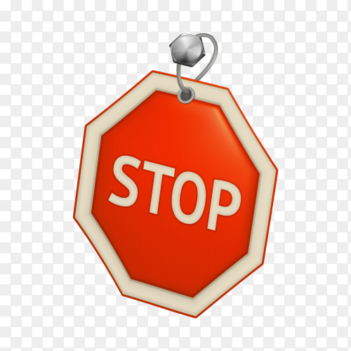 Stop Sign on transparent background PNG
