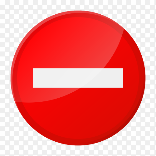 Stop sign icon Premium vector PNG