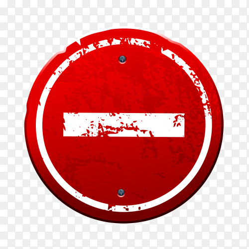 Stop sign premium vector PNG