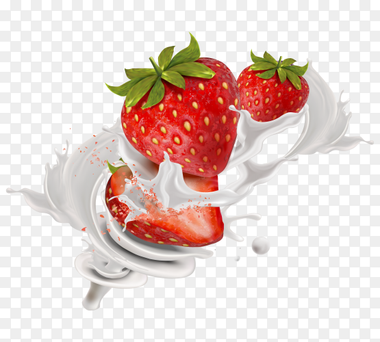 Strawberry Wave Milk on transparent PNG