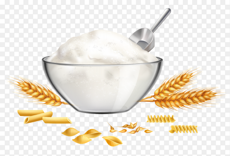 Suger and wheat on transparent background PNG
