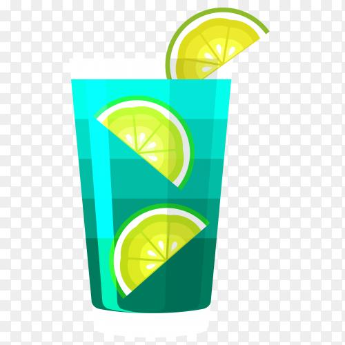 Summer cocktail Juice on transparent background PNG