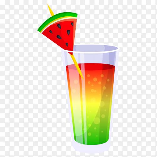 Summer cocktail on transparent background PNG