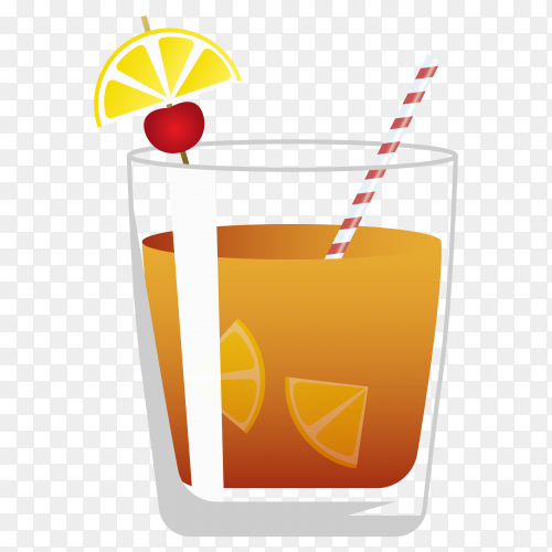 Summer cold drink clipart PNG
