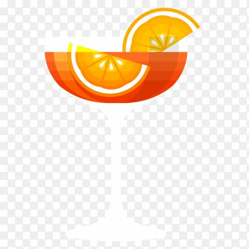 Summer orange juice clipart PNG