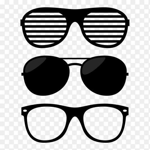 Sunglasses set simple design Premium Vector PNG