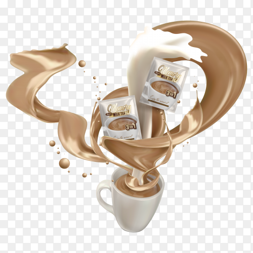 Sweet Milk Choxolate  tea Clipart PNG
