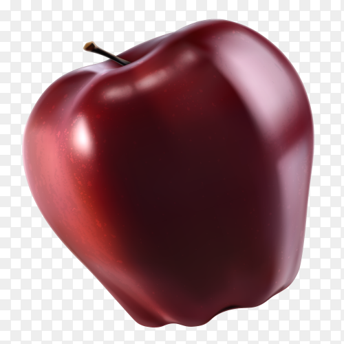 Sweet Red apple vector PNG