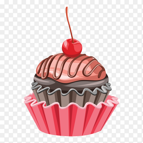 Sweet cupcake on transparent background PNG