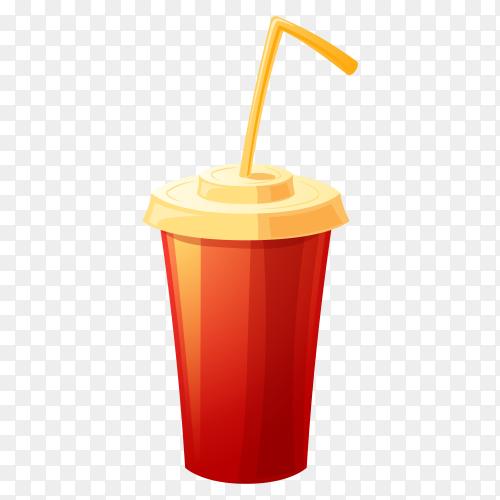 Sweet drink on transparent PNG