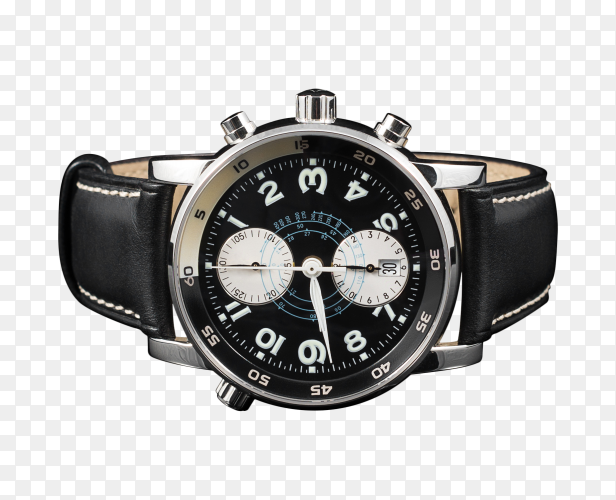 Swiss watches on black on transparent background PNG
