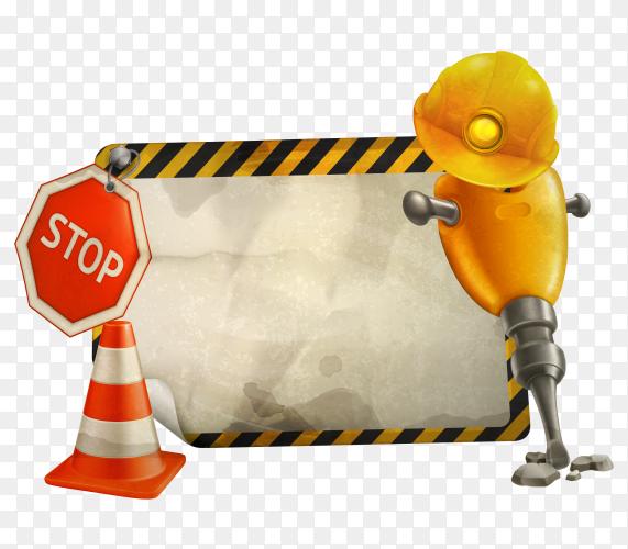Symbol under construction vector PNG