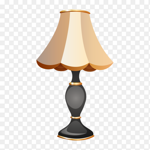 Table lamp on transparent background PNG