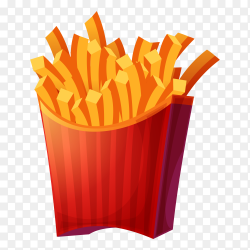 Tasty French fries Premium vector PNG