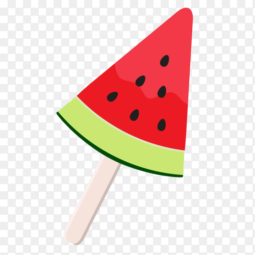 Tasty Watermelon ice cream Clipart PNG