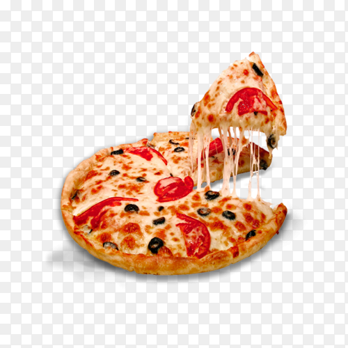 Tasty pizza on tranparent background PNG