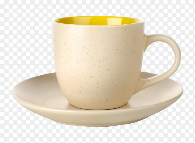 Tea cup on transparent background PNG