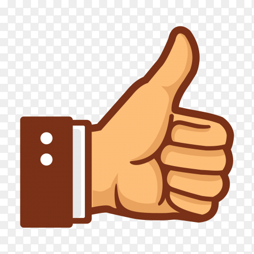 Thumb up hand like vector PNG