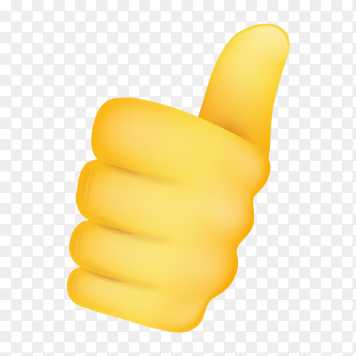 Thumbs up gestures emoji vector PNG
