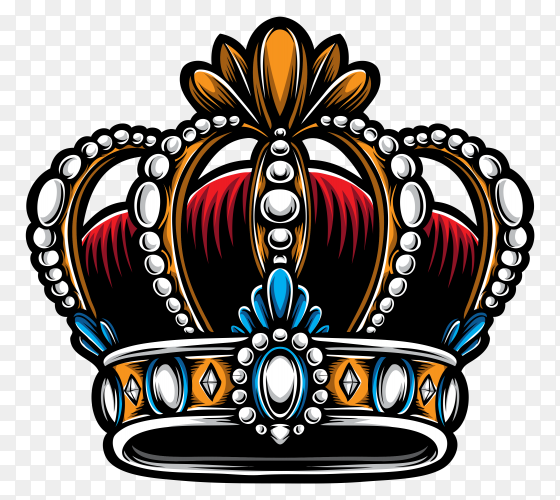 Traditional king crown on transparent background PNG
