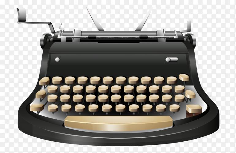 Typewriter Paper  on transparent background PNG