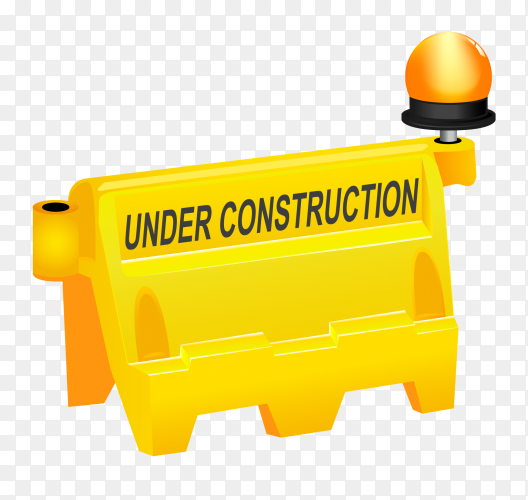 Under construction template Clipart PNG