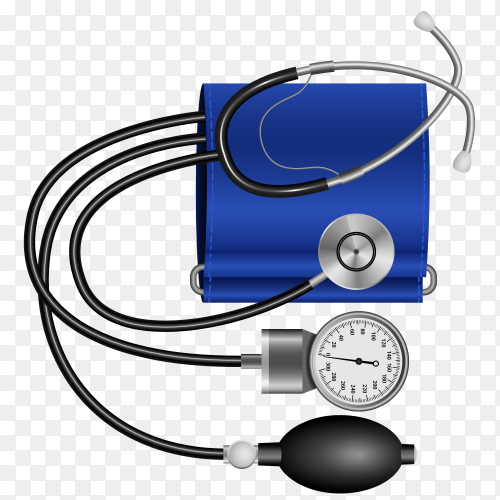 Various medical equipments on transparent background PNG