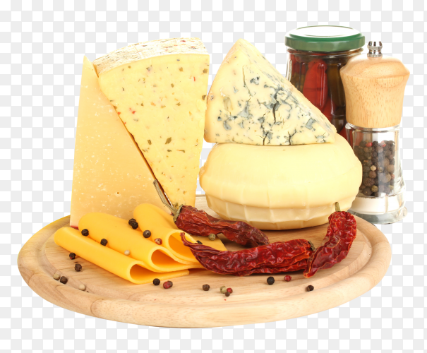 Various types of cheese Premium image PNG