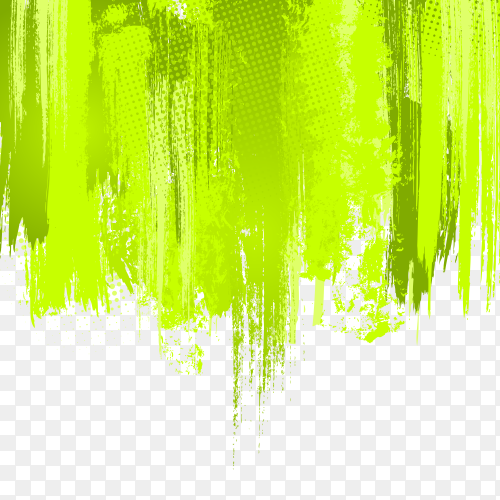 Visual art with falling green lines premium vector PNG