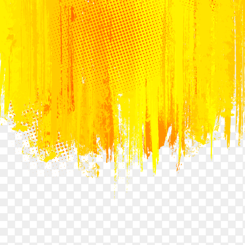 Visual art with falling yellow lines premium vector PNG
