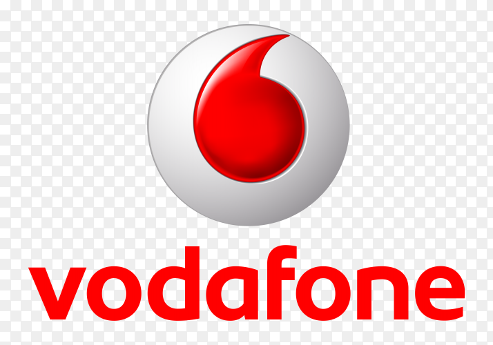 Vodafone logo on transparent background PNG