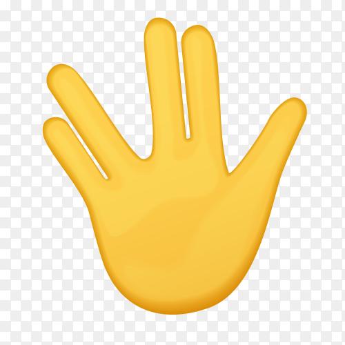 Vulcan salute gesture emoji vector PNG