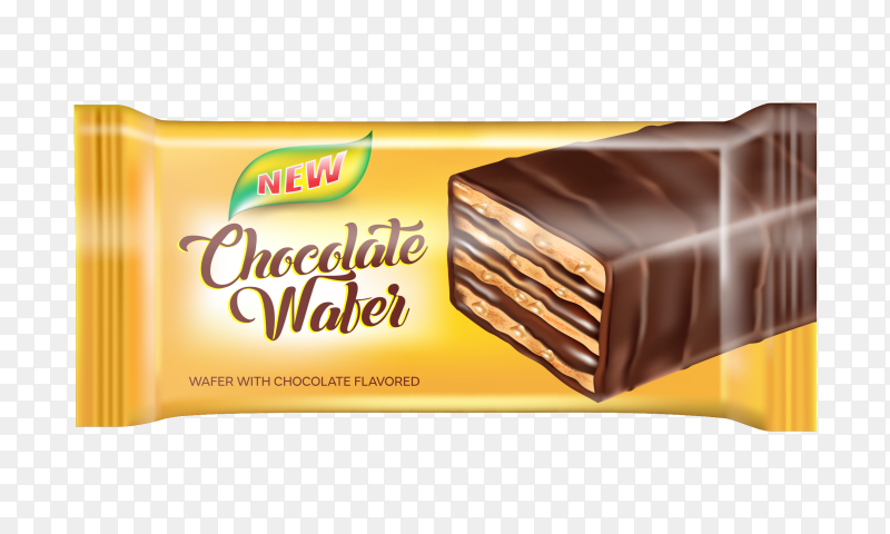 Wafer with chocolate falvoured Clipart PNG